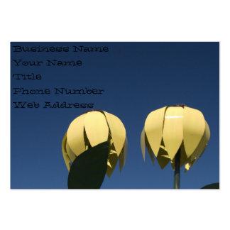 Tarjeta de visita de la escultura de los girasoles