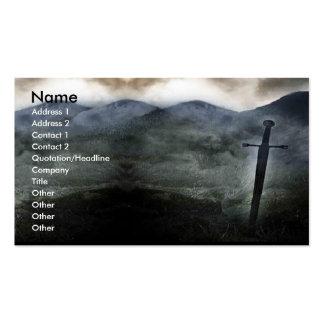 Tarjeta de visita de la espada del destino