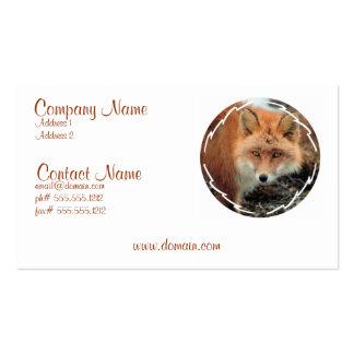 Tarjeta de visita de la especie del Fox