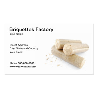 Tarjeta de visita de la fábrica de las briquetas