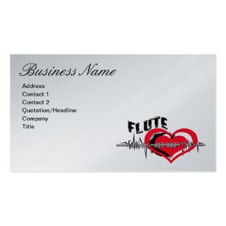 Tarjeta de visita de la flauta