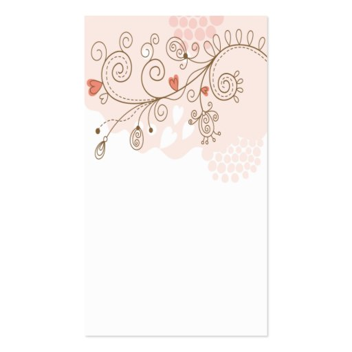 tarjeta de visita de la flor