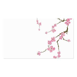 Tarjeta de visita de la flor de cerezo