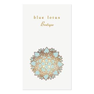 Tarjeta de visita de la flor de Lotus del azul y d