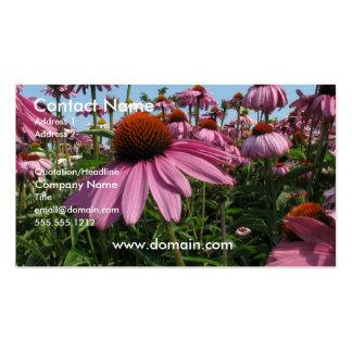 Tarjeta de visita de la flor del cono
