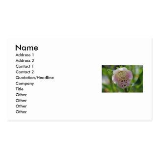 Tarjeta de visita de la flor del Foxglove