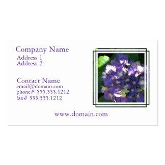 Tarjeta de visita de la flor del Hydrangea