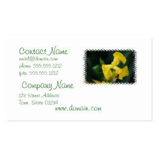 Tarjeta de visita de la flor del iris amarillo