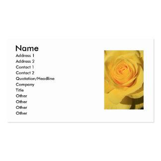 Tarjeta de visita de la flor del rosa amarillo