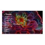 Tarjeta de visita de la flor del Zinnia de Digitac