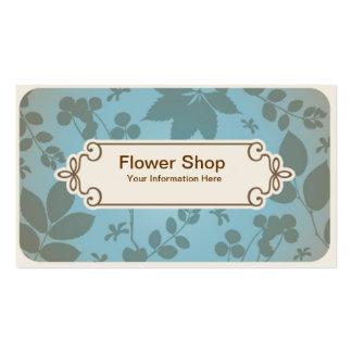 Tarjeta de visita de la floristería