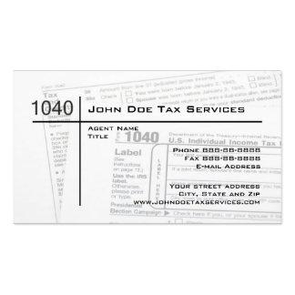 Tarjeta de visita de la forma de impuesto federal