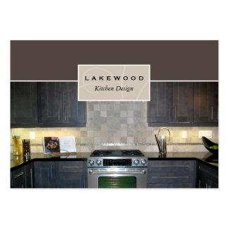 Tarjeta de visita de la foto de la cocina de color