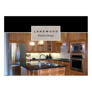 Tarjeta de visita de la foto de la cocina