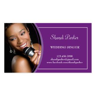Tarjeta de visita de la foto del cantante del boda