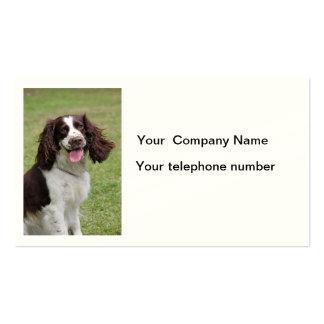 Tarjeta de visita de la foto del perro del perro d