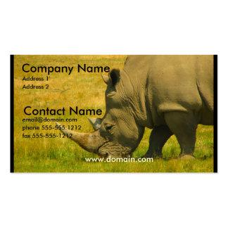 Tarjeta de visita de la foto del rinoceronte