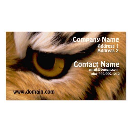 Tarjeta de visita de la foto del tigre