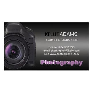 Tarjeta de visita de la fotografía