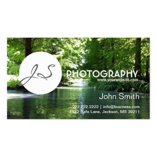 Tarjeta de visita de la fotografía de Green River