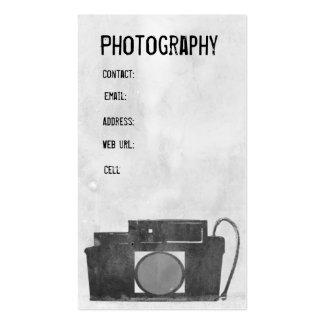 Tarjeta de visita de la fotografía de la cámara