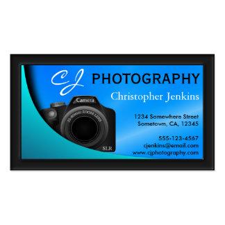 Tarjeta de visita de la fotografía del fotógrafo tarjetas de visita