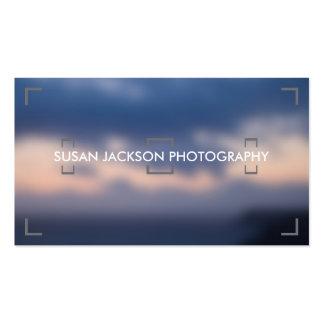 Tarjeta de visita de la fotografía del visor