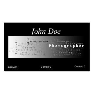 Tarjeta de visita de la fotografía - raya blanca