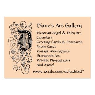 Tarjeta de visita de la galería del arte de Diane