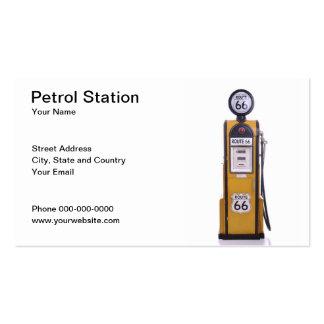 Tarjeta de visita de la gasolinera