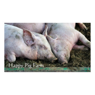 Tarjeta de visita de la granja de cerdo
