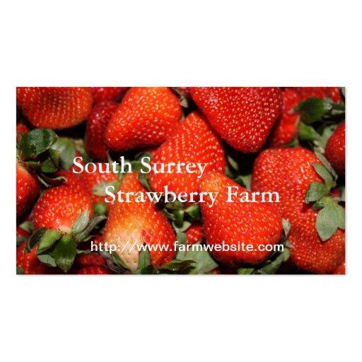 tarjeta de visita de la granja de la fresa