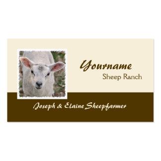 Tarjeta de visita de la granja de las ovejas