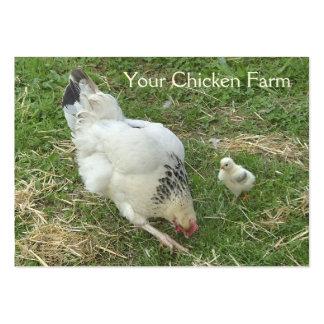 Tarjeta de visita de la granja de pollo
