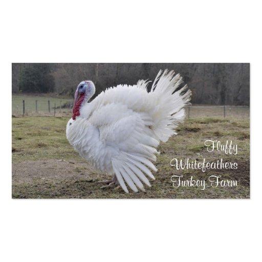 Tarjeta de visita de la granja de Turquía