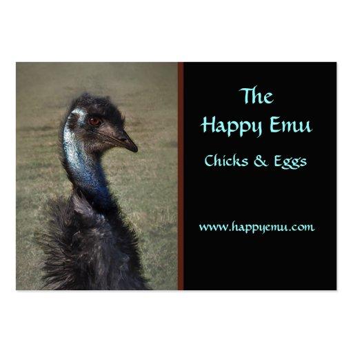 Tarjeta de visita de la granja del Emu