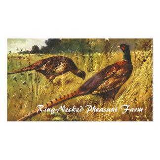 Tarjeta de visita de la granja del faisán