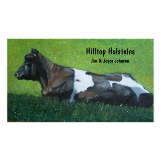 Tarjeta de visita de la granja lechera de Holstein
