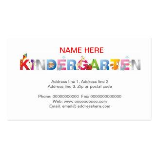 tarjeta de visita de la guardería