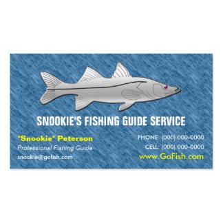 Tarjeta de visita de la guía de la pesca