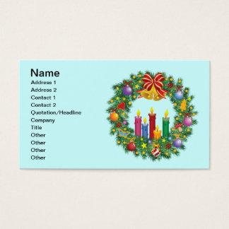 Tarjeta de visita de la guirnalda del navidad
