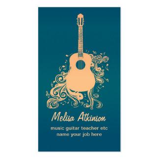 tarjeta de visita de la guitarra