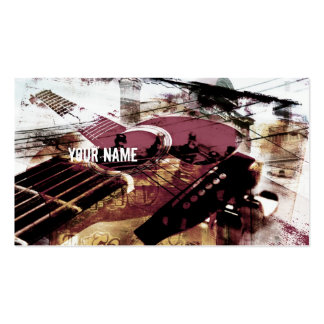 tarjeta de visita de la guitarra acústica