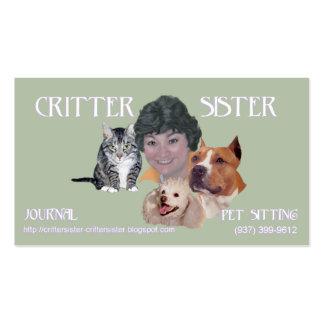 Tarjeta de visita de la hermana del Critter