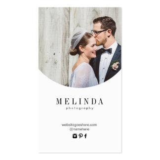 Tarjeta de visita de la hoja de oro de Melinda