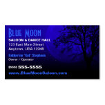 Tarjeta de visita de la imagen de la luna azul
