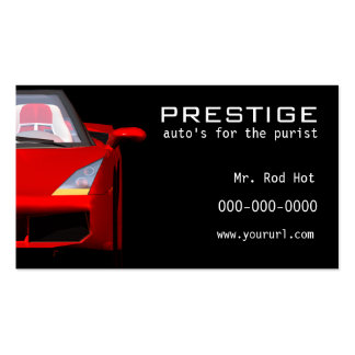 Tarjeta de visita de la industria del automóvil