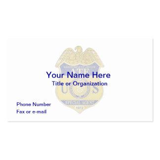 Tarjeta de visita de la insignia del ATF