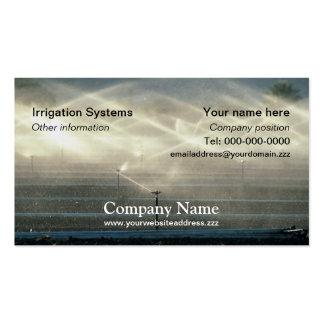 Tarjeta de visita de la irrigación
