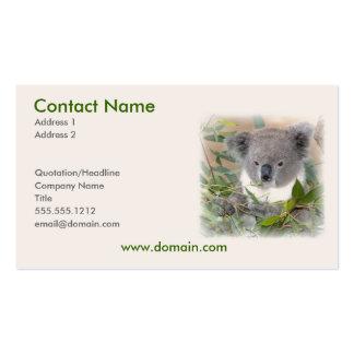 Tarjeta de visita de la koala